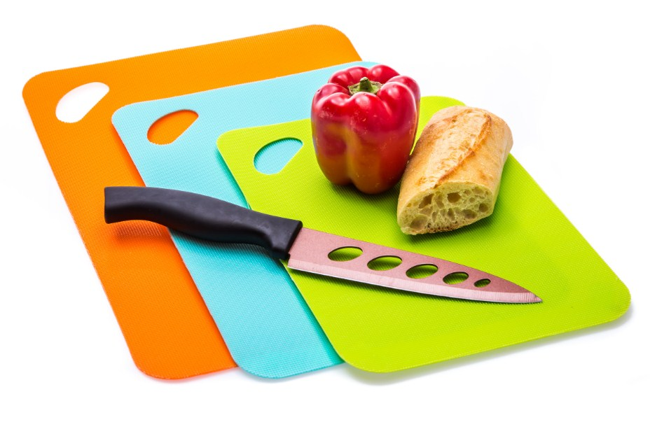 3-piece Set Non-slip Kitchen Cutting Mat Set, Color Coded To Prevent Cross  Contamination (Blue, Red, Green)